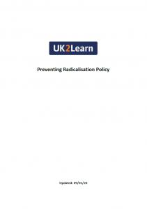 Preventing Radicalisation